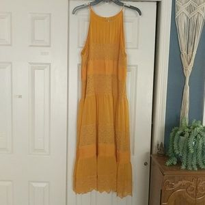 Yellow Anthropologie Dress